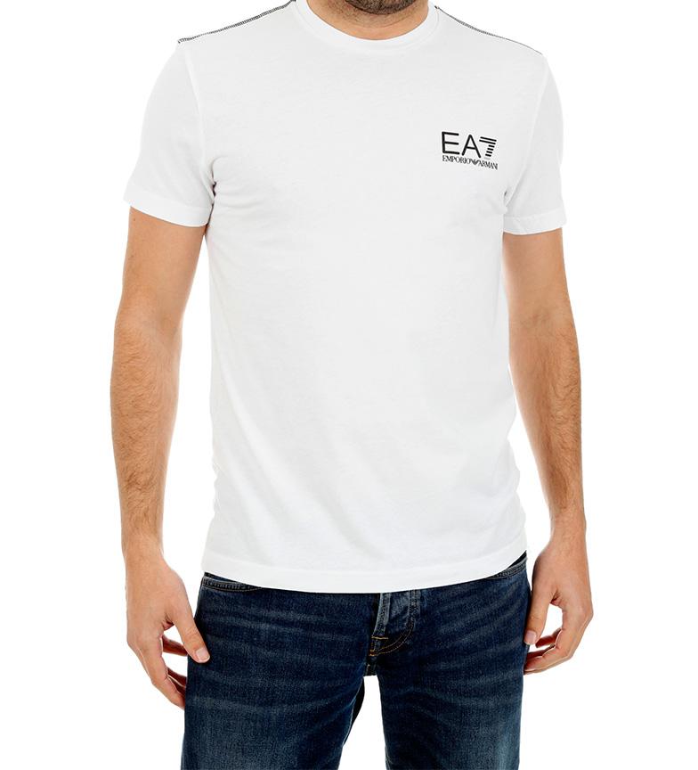 pas cher combien le magasin Ea7 Emporio Armani Ea7 Camiseta Blanco nicekicks vaste gamme de choix Fk9s8