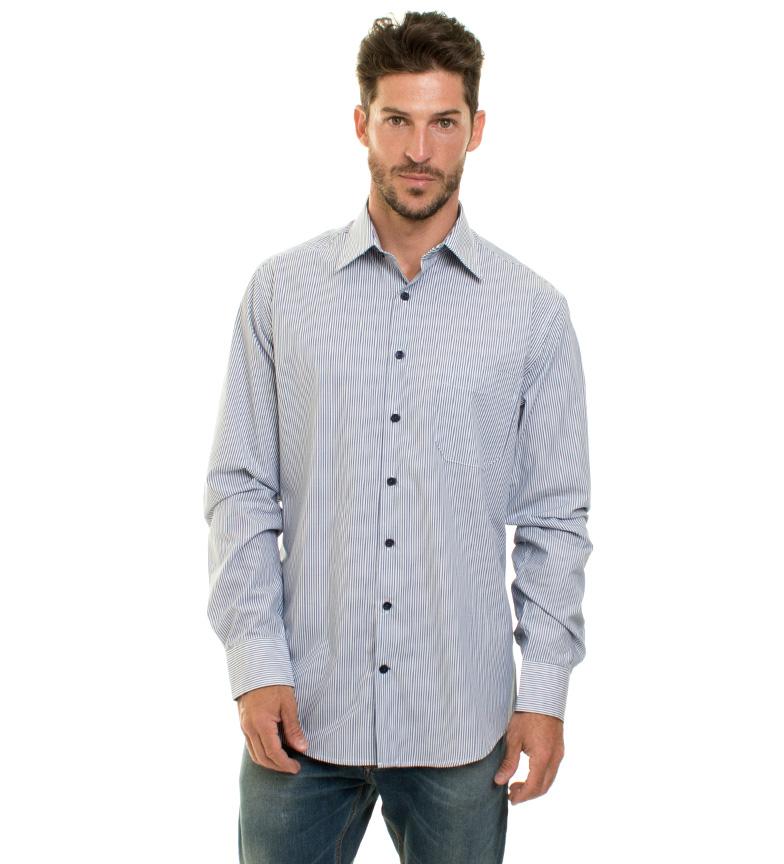 Chemise Bleue En Forme Formen Mince Charlie Nouveau dédouanement livraison rapide moins cher confortable à vendre OCUZVjL