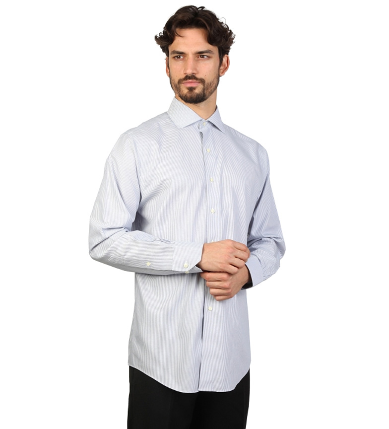 Brooks Brothers Chemise Gris Slim Fit Et Blanc Avec Rayures fourniture sortie llpOLm4yJ