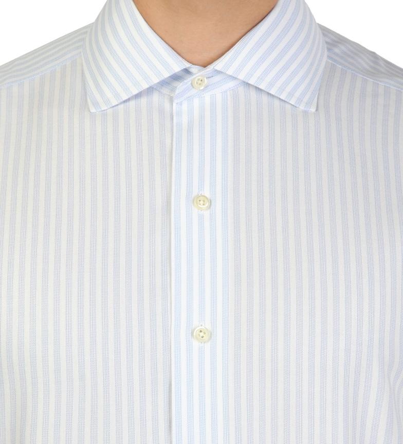 Brooks Camisa Frères Couleur Slim Fit Blanco Con Rayas Celestes la sortie Inexpensive vente ebay débouché réel W01Jj4h7l