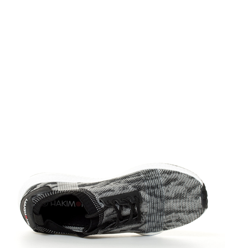Hakimono Ushi Chaussures Blanches, Maille Noir