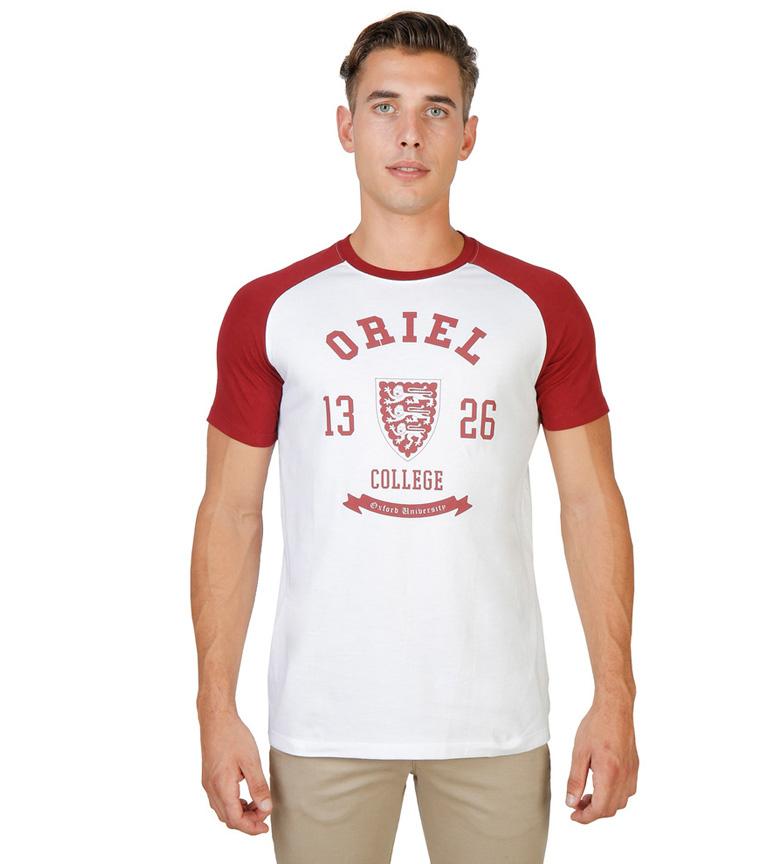 Orange 100% Original choix à vendre Oxford Université Camiseta Oriel 1326 Blanco vente énorme surprise meilleur endroit XgiVhKH