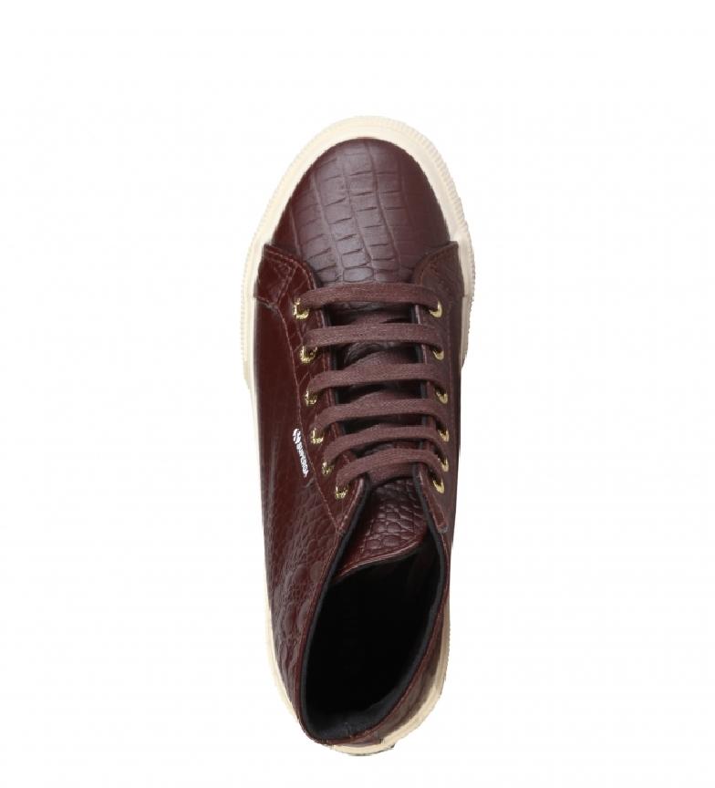 Superga Bordeaux Chaussures En Cuir De Couleur vente discount sortie nz4HE