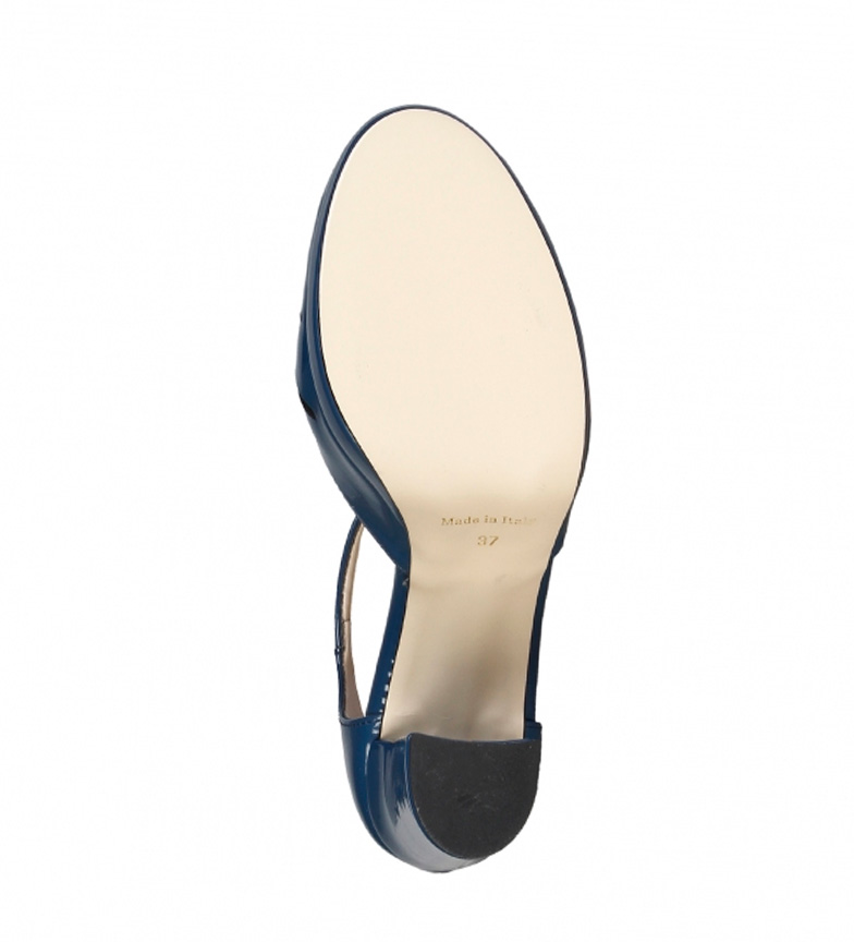 Chaussures Made In Italy Hauteur Du Talon Bleu: 9,5 Cm