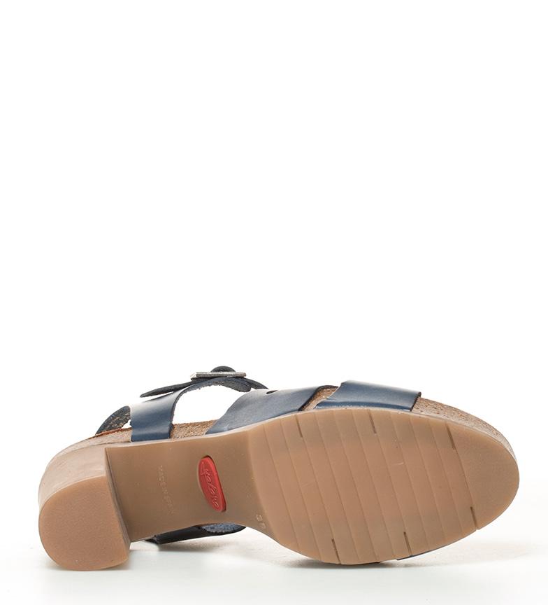 Yokono Sandales En Cuir Malibu Marine 053 + Plate-forme De Talon Haut: 10cm meilleur gros rabais rabais moins cher des prix RkaCs3