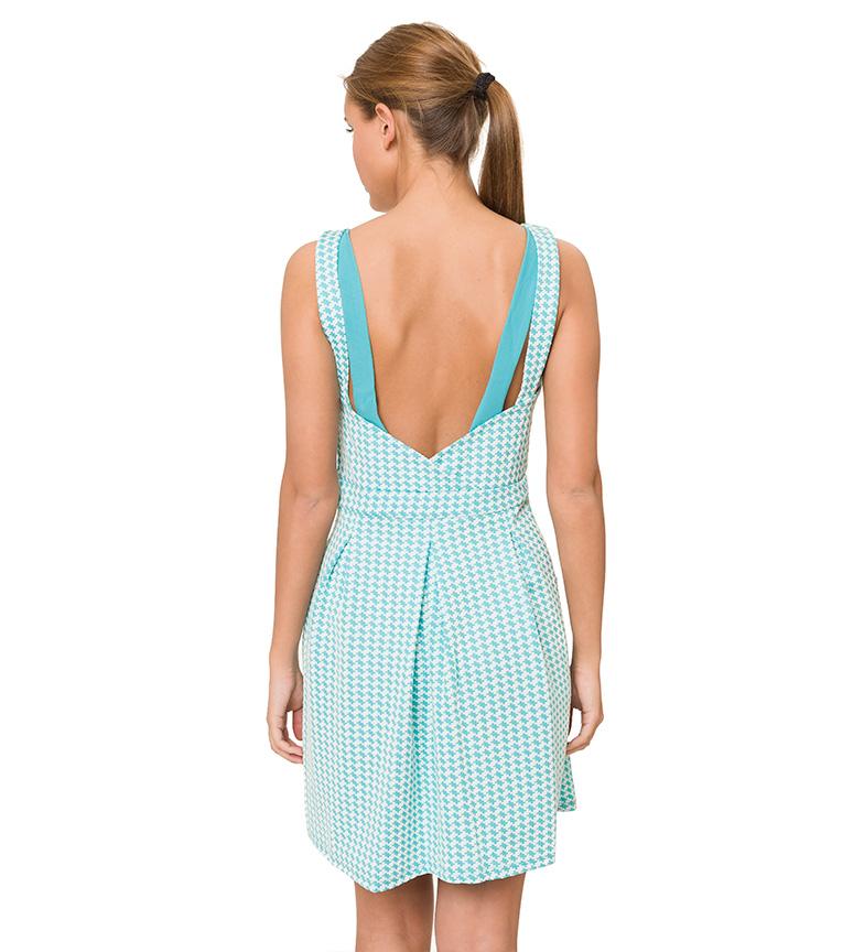 Robe Turquoise À Motifs Azura 100% authentique Livraison gratuite nouveau vente SAST acheter 3KeTz