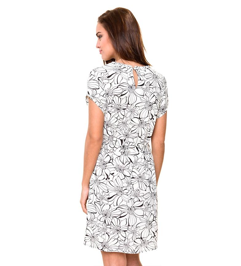 Azura Robe À Fleurs Blanc, Noir