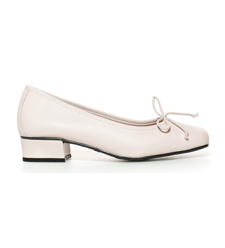 D'chicas Chaussures En Cuir Brut Lux Talon Haut: 3cm