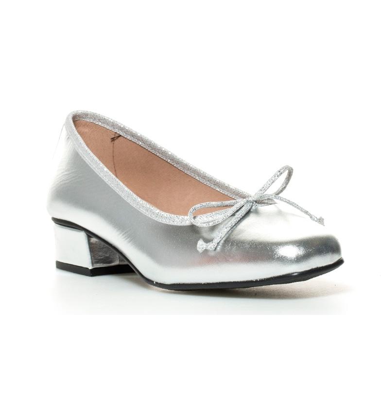 D'chicas Lux Chaussures En Cuir Talon Haut En Argent: 3cm bon marché DClE9
