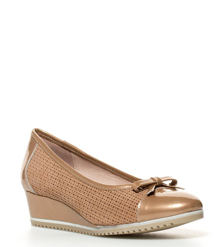 jeu combien vente Nice D'chaussures En Cuir Chicas Mati Hauteur De Coin D'or: 4cm fourniture gratuite d'expédition Amazon de sortie nNvtMOnQ1