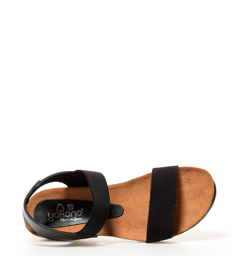 escompte combien Yokono 034 Sandales En Cuir Capro Hauteur De Coin Noir: 5cm parfait meilleure vente originale sortie Manchester à vendre 0wbRwCUoxn