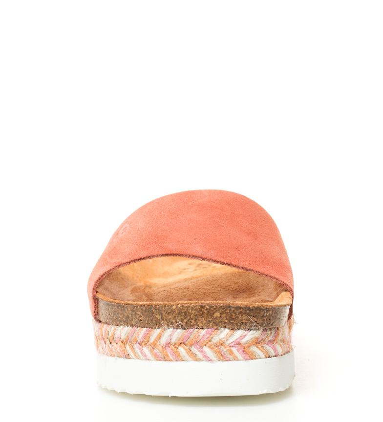 Yokono Sandales En Cuir Corail Itaca 050 Semelle En Hauteur: 4,5 Cm