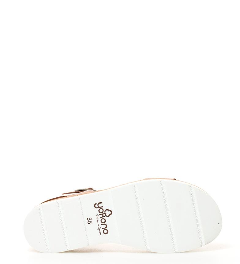 Yokono Sandales Tupai Semelle En Cuir Marron 001 Hauteur: 3 Cm style de mode 2015 nouvelle clairance nicekicks Boutique en ligne h5php7q