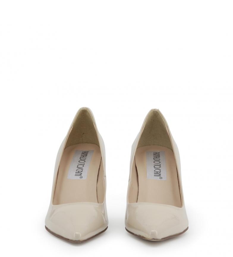 Arnaldo Chaussures De Salon De Toscani Hauteur Beige Talon En Cuir Verni: 8cm rabais réel drop shipping officiel à vendre WB5IvwDO