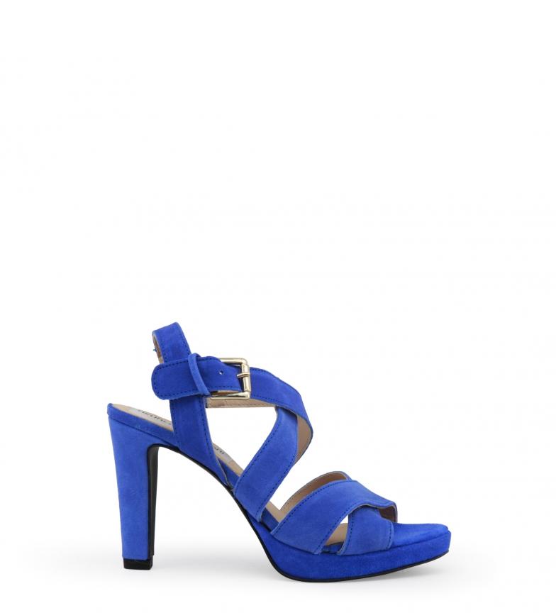 Arnaldo Sandales En Cuir Bleu Hauteur Du Talon Toscani: 10.5cm rabais moins cher meilleurs prix discount WI6p2x0CLN
