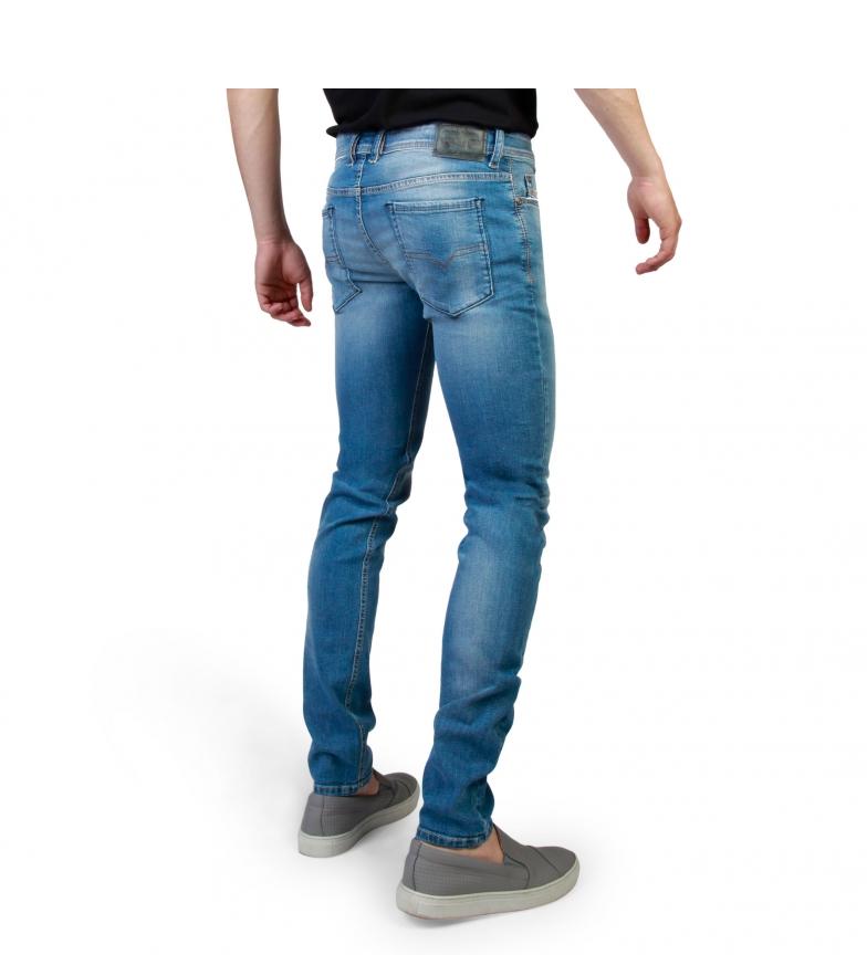 chaud Jeans Diesel Sleenker_00s7vh_0852v Bleu expédition rapide à jour vente en Chine mFN2fdAwo