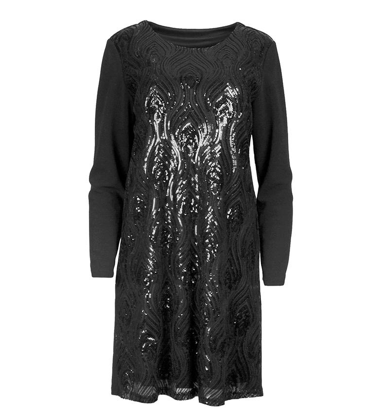 Ada Gatti Gements Robe Noire pour pas cher vente d'origine site officiel vente libre choix d'expédition LjU3jqfPK