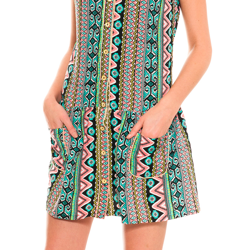 Giuliana Almatrichi Multicolore Vestido réduction explorer jeu 100% authentique pas cher PGDkkY