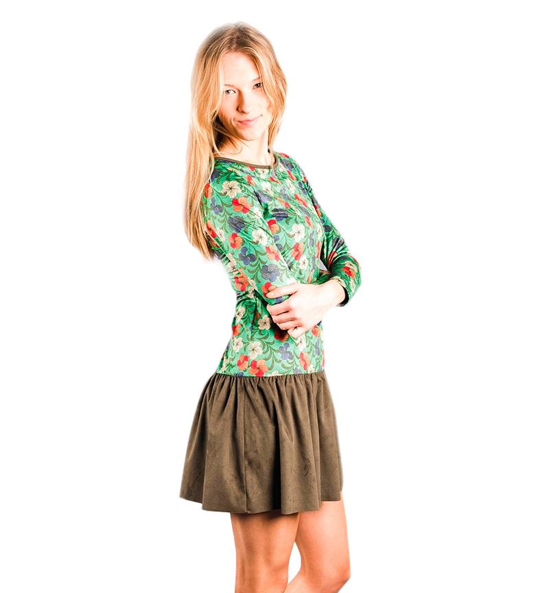 Enola Robe Verte Amarillolimon vente pas cher pas cher confortable yNfqbb
