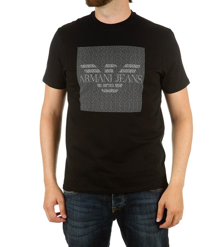 Armani Jeans Camiseta Teletypic Negro