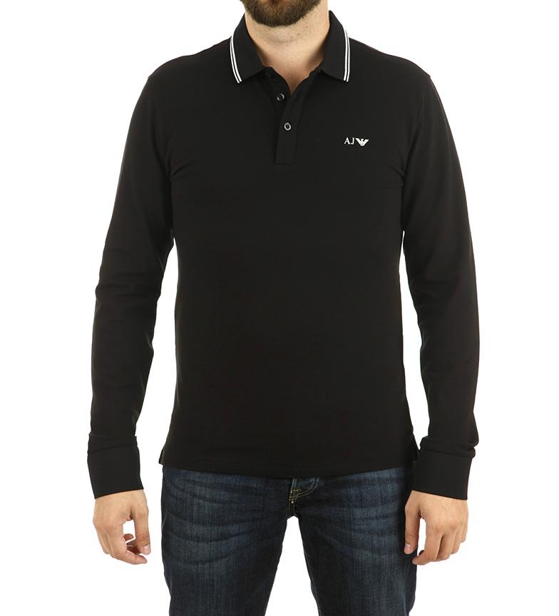 Armani Jeans Noir Polo Obligataire