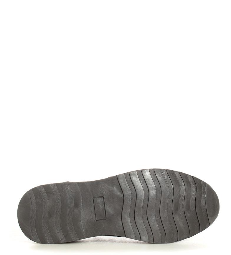 Black-Barred-Sneakers-Matthew-Uomo-Marrone-Nero-Basso-Stringhe-Casual