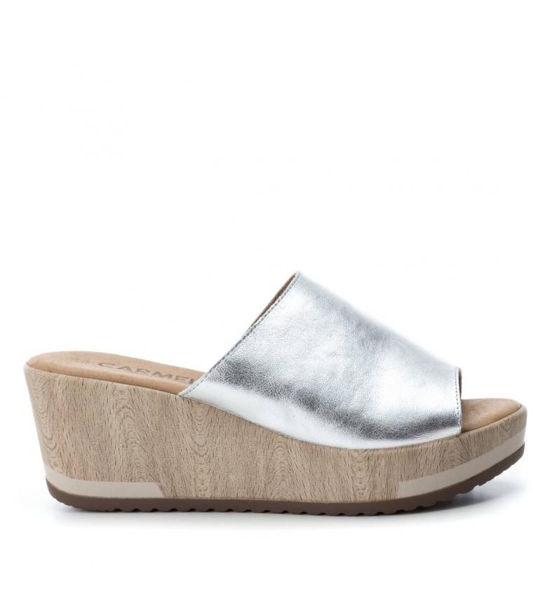 Sandales En Cuir Argent Carmela Livraison gratuite Finishline vente parfaite combien en ligne ebay FFo2ktlv