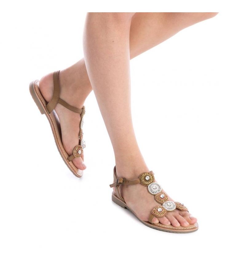 Sandale En Cuir Camel Carmela excellent grande vente nEuqTl