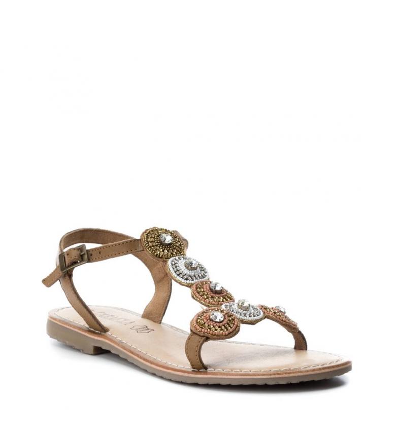 Sandale En Cuir Camel Carmela vente sneakernews 3QsOcJLSd