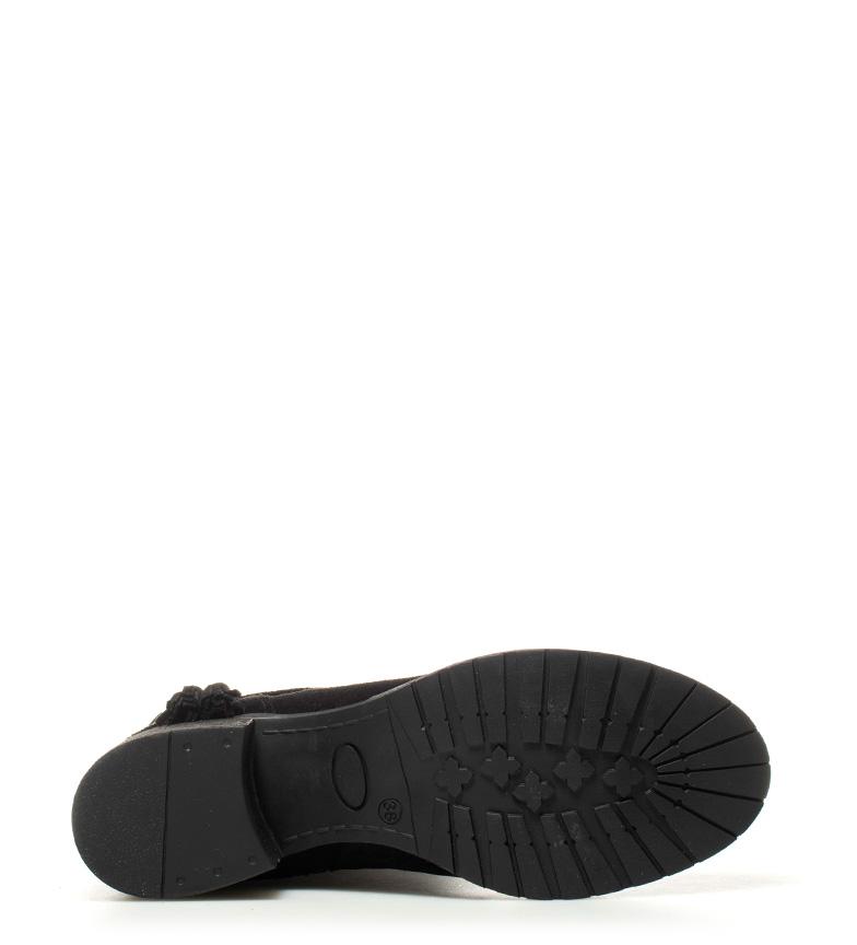 Bottes En Cuir Noir Chika10 Indira Haut Talon 01: 5,5cm