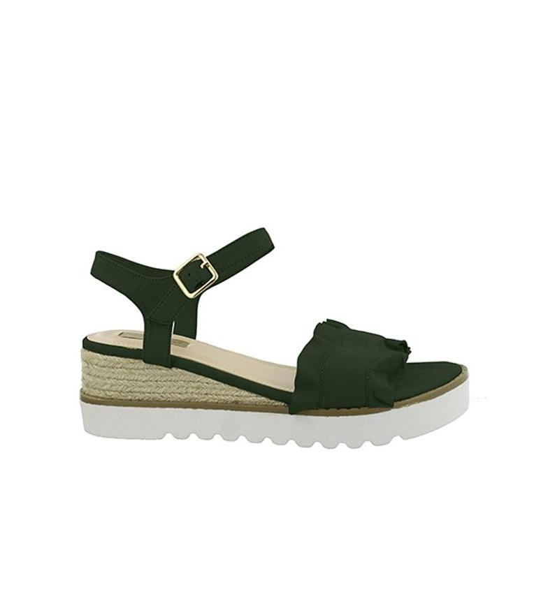 naviguer en ligne Chika10 Aitana 01 Sandales Compensées Hauteur Kaki: 6cm multicolore vente moins cher 0DR3LhopLD