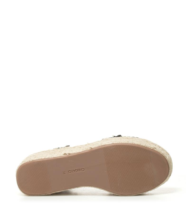 Sandales Compensées Noir Chika10 01 Valeria Hauteur: 7cm visite pas cher pas cher prix de sortie achat vente jeu acheter h4WgqpVB