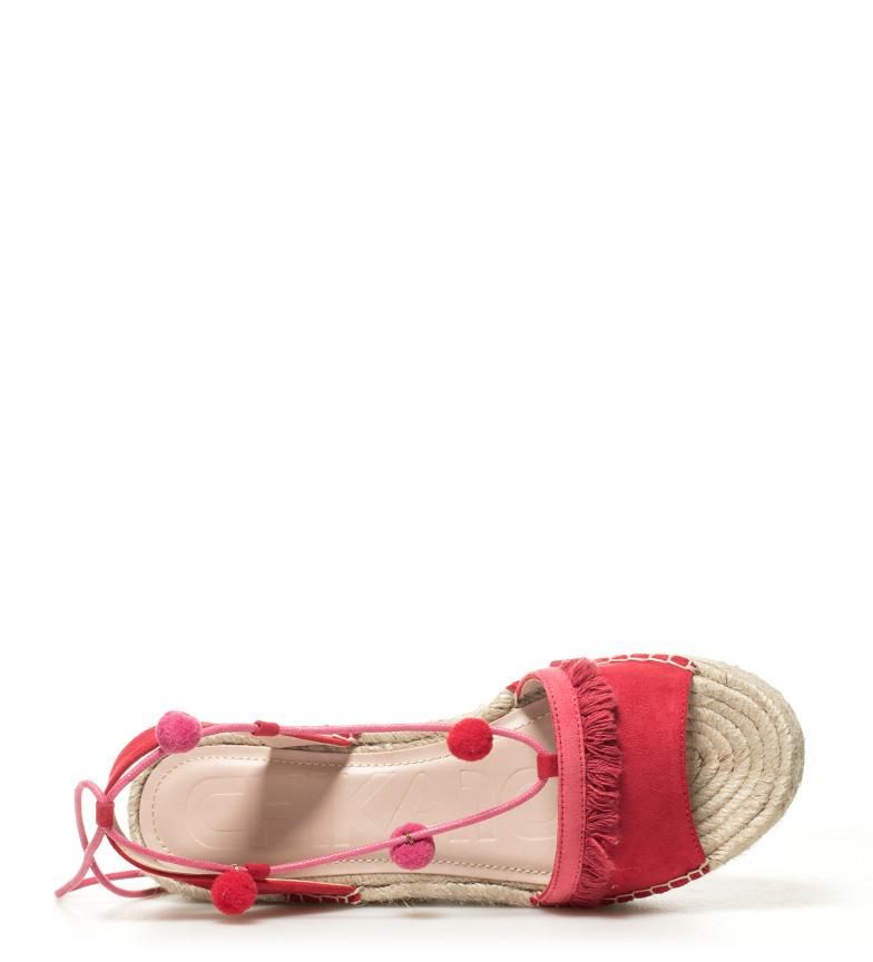 01 Valeria Chika10 Sandales Rouges Hauteur Plateau: 7cm Boutique en vente 44DhoJOK2
