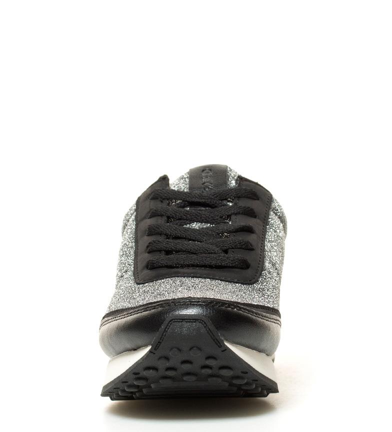 Chaussures Chika10 Agnes 03 Argent, Noir