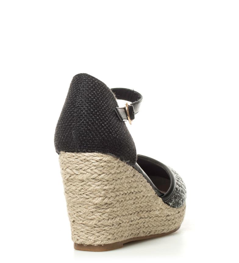Sandales Compensées Noir Chika10 Nadia 01 Hauteur: 9cm sortie 2015 le moins cher wiki en ligne vente pas cher WxiaL
