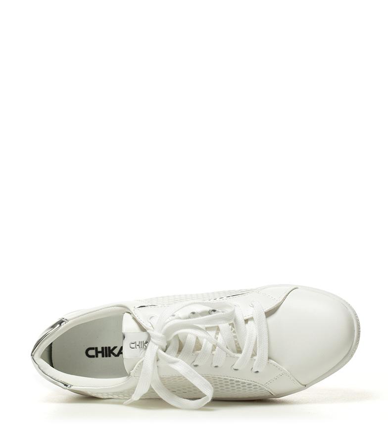 04 Chika10 Chaussures Blanches Hauteur De Plate-forme Ula: 4,5 Cm