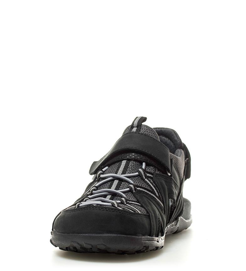 Sandales En Cuir Noir Chiruca Timor, 318g Gris