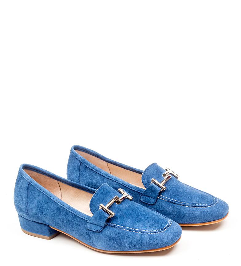 Albina D'chicas Chaussures En Cuir Bleu vente 2014 nouveau jeu 2015 excellent P7GKd