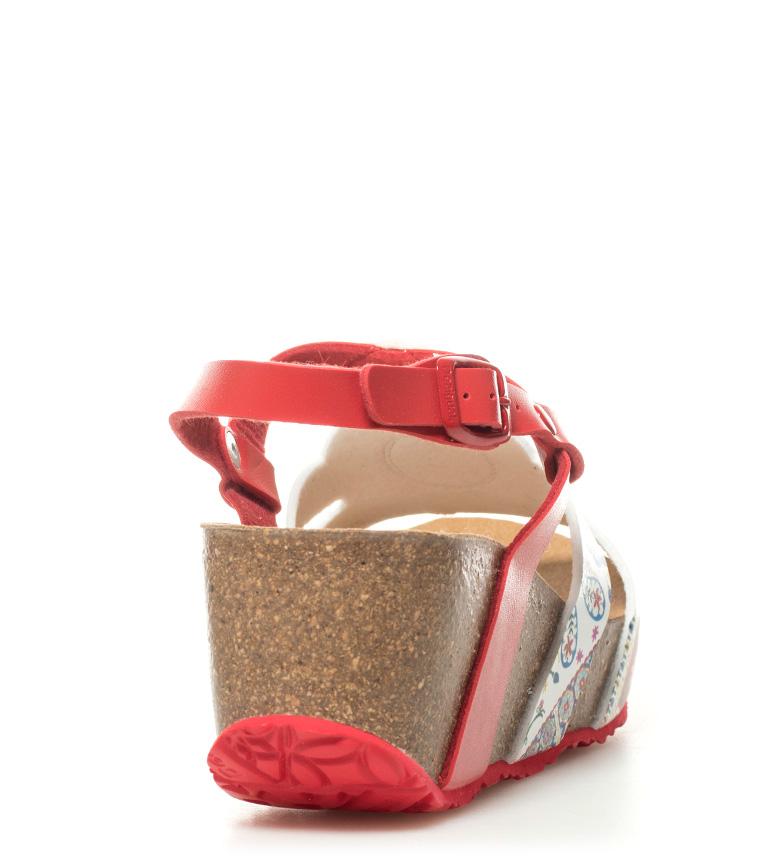 Odyssey Inégale Sandales Compensées Rouge Hauteur De Microrapport: 6,5 Cm