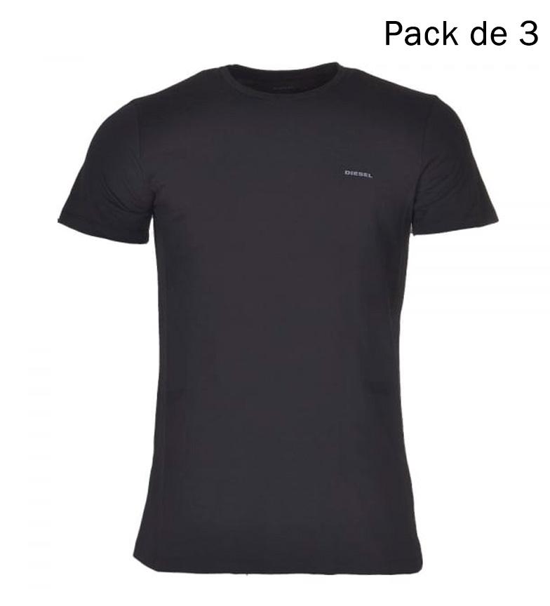 3 Pack Diesel Camisetas Veste Nègre
