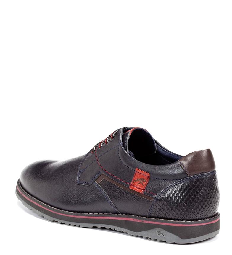 Fluchos Chaussures En Cuir Brad Marine vente authentique se Footaction réduction authentique jTVFU65