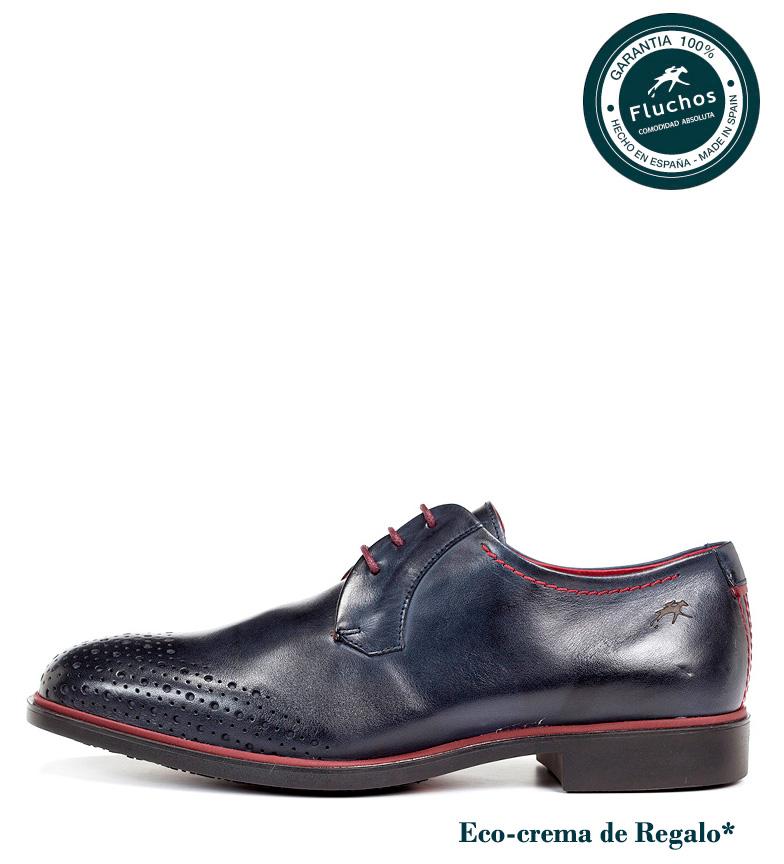vente bonne vente Fluchos Chaussures En Cuir Colosse Bleu Marine pas cher abordable réduction fiable Xyv0Ntt