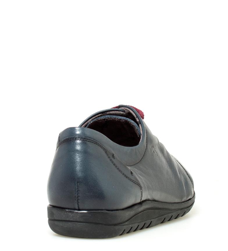 Fluchos Chaussures En Cuir Bleu Marine Evel