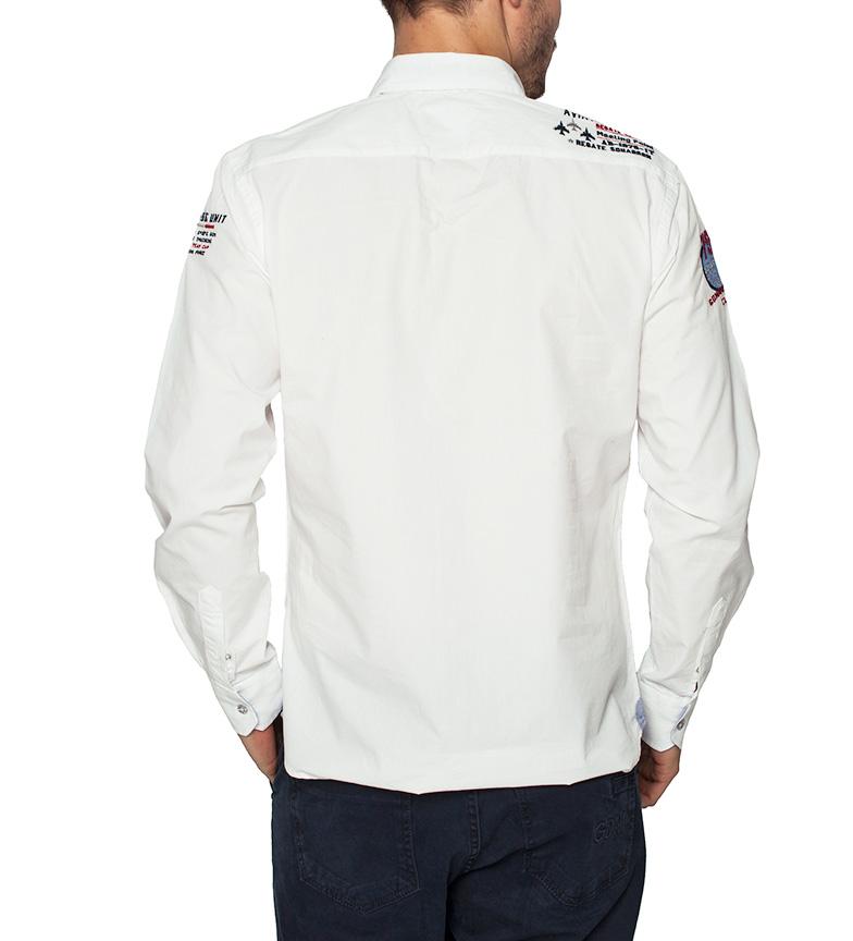 à la mode Sea George Camisa Unité De Base D'air Blanco confortable 7OsZeIod1s
