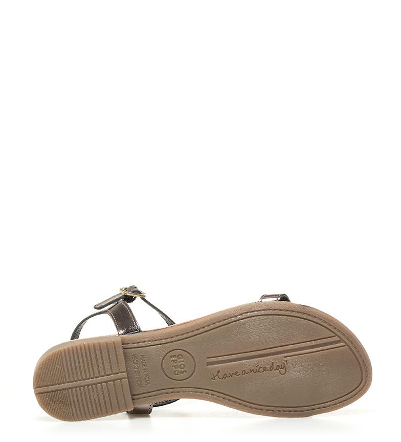 Sandales En Cuir Noir Gioseppo De Leda Parcourir pas cher B0f01B1j6