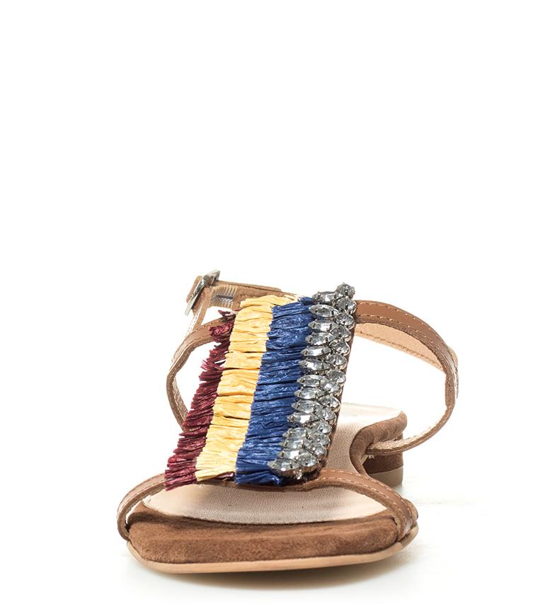 Sandales Cuir Malala En Cuir Gioseppo Gioseppo Brun Multicolore En Sandales Brun Malala Multicolore SRFxa