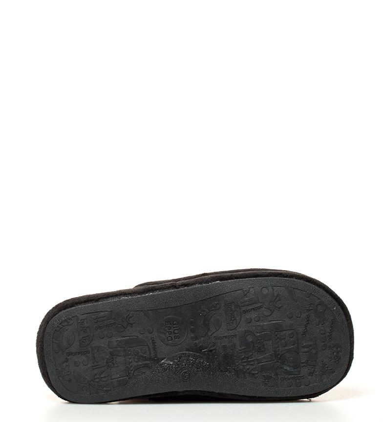 Pantoufles Gioseppo Crâne Noir Nozomi confortable à vendre 100% original Xibr7S0f