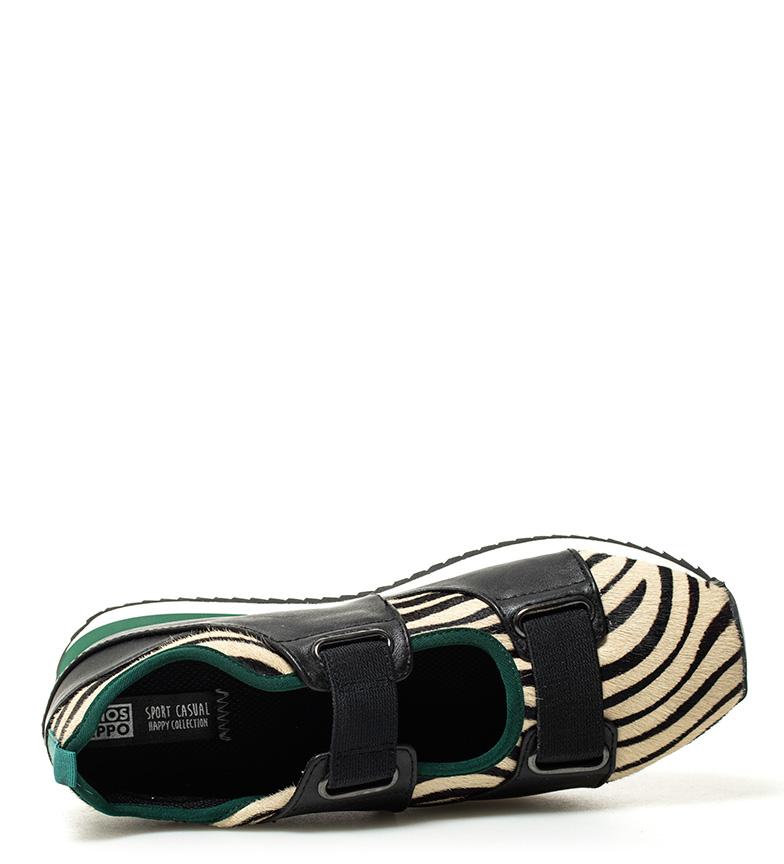 Gioseppo Noir, Chaussure Zèbre Vert Unique Hauteur: 3,5 Cm