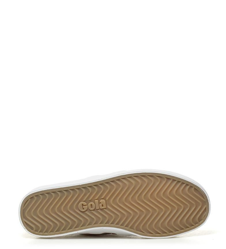 Chaussures Gola Miroir Blanc, Or