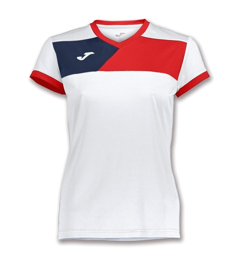 Joma Chemise Équipage Ii M / C Femelle Blanc-rouge